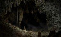 Creepy, dark, and frightening cave.